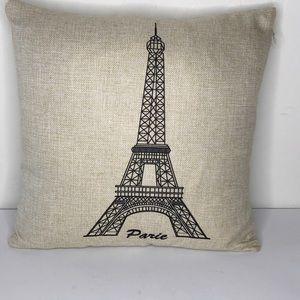 Eiffel Tower Throw Pillow Parie Paris